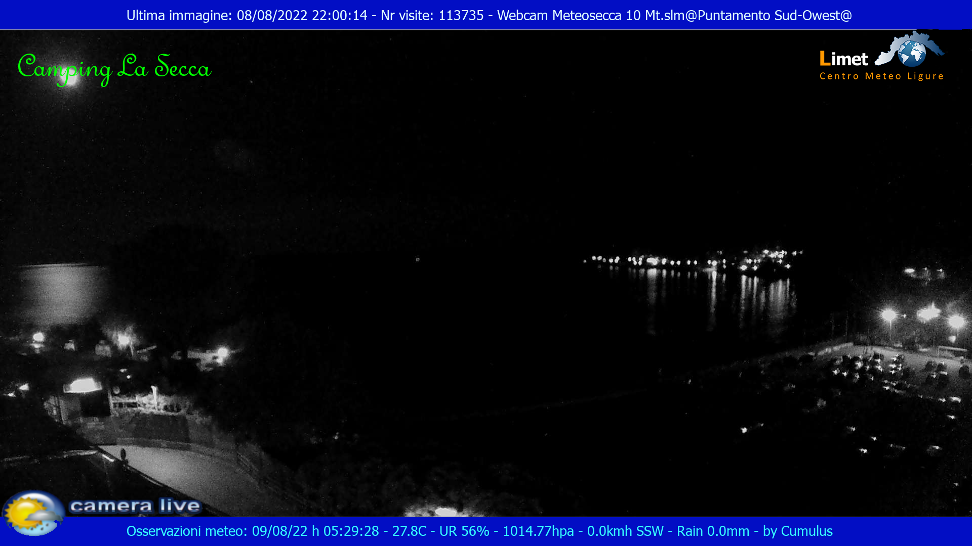 Webcam Moneglia GE - Camping La Secca